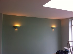 Uplighters fitted in Kitchen