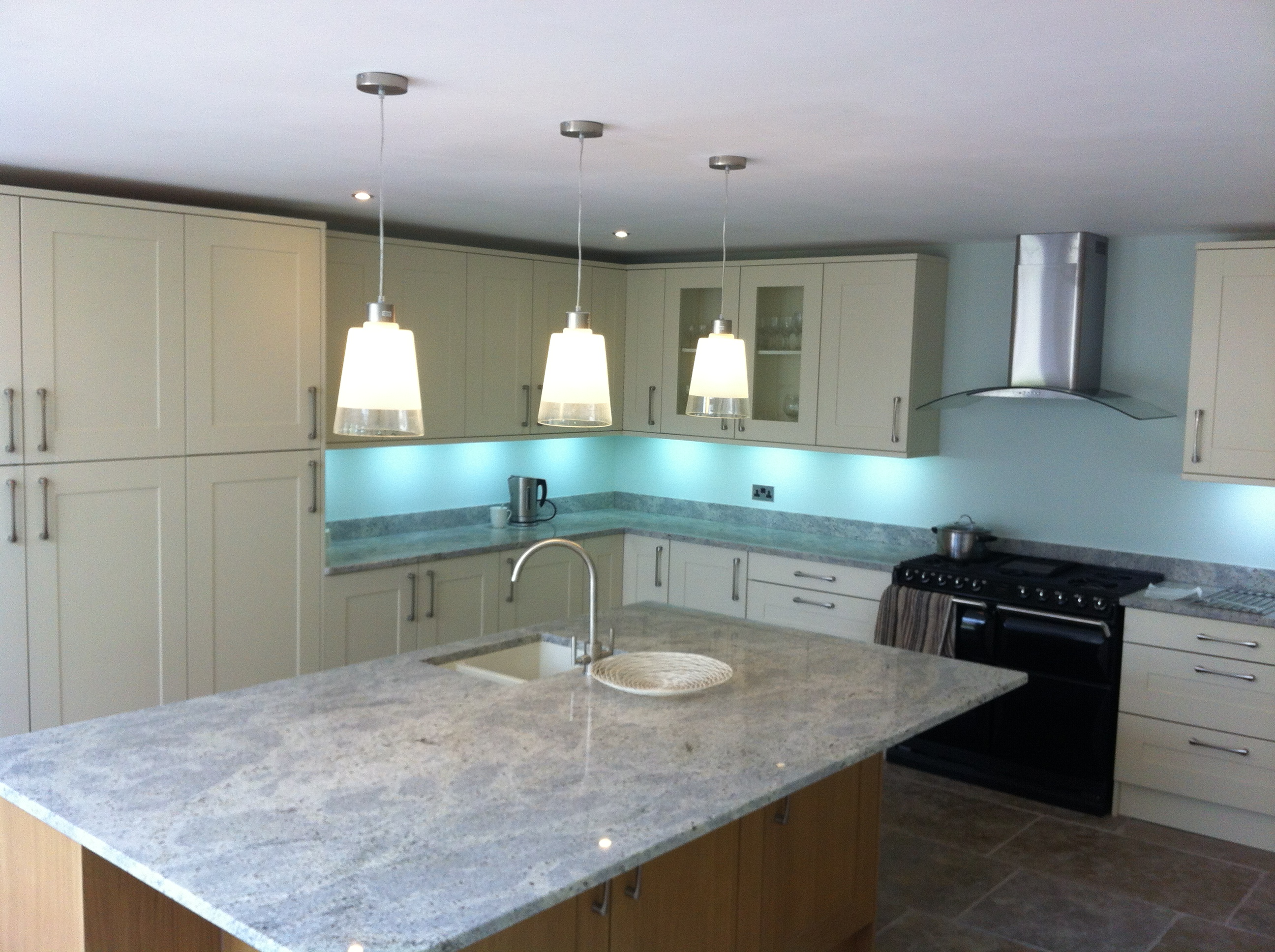 Luxury Kitchen Electrical Fit Wiring And Installation In Warwick Light Fittings