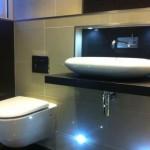 LED Lighting in Bathroom uplighting sink