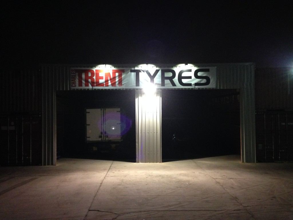 Trent Tyres Electrical Industrial Light Installation